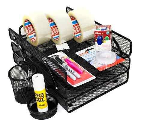 Kit cinta ancha pegante en barra y artículos malla oficina
