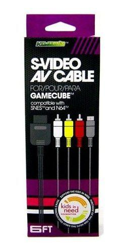 Nintendo gamecube av audio video svideo cable