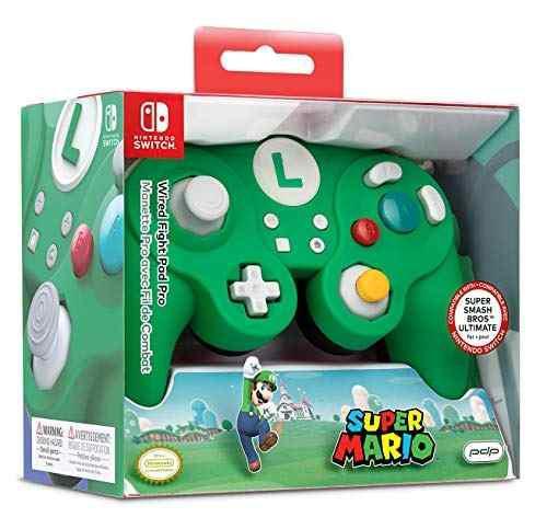 Nintendo switch super mario bros luigi gamecube estilo cable