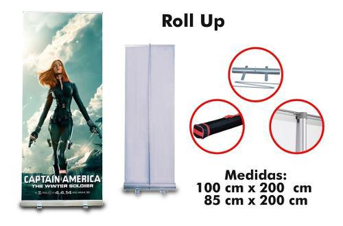 Porta pendon enrollable roll up 2 x 1 metros