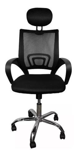 Silla oficina escritorio cabazero blanca ergonomica malla