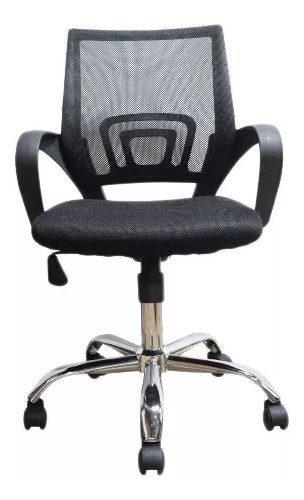 Silla oficina malla negra giratoria ergonomica escritorio pc