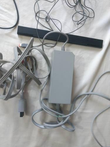 Nintendo wii cargador cable audio video sensor acsesorios