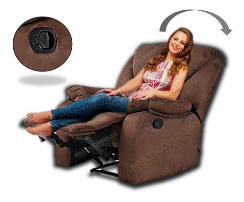 Silla descanso poltrona reclinable estudio microfibra ---d