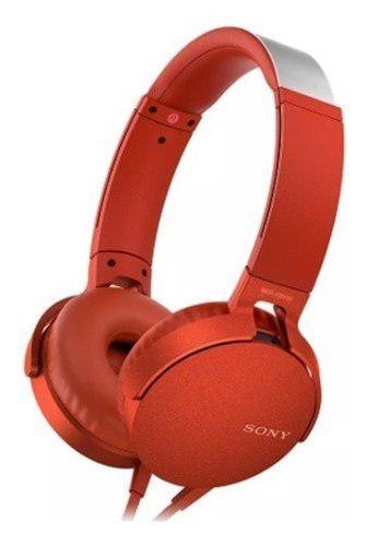 Audifonos sony extra bass audifono diadema mdr xb550ap rojo