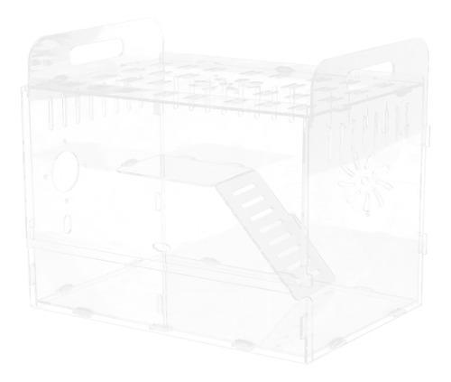 Casa de acrílico transparente mascotas accesorios de