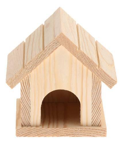 Casa juguete de madera hámster nido complimentos mascota