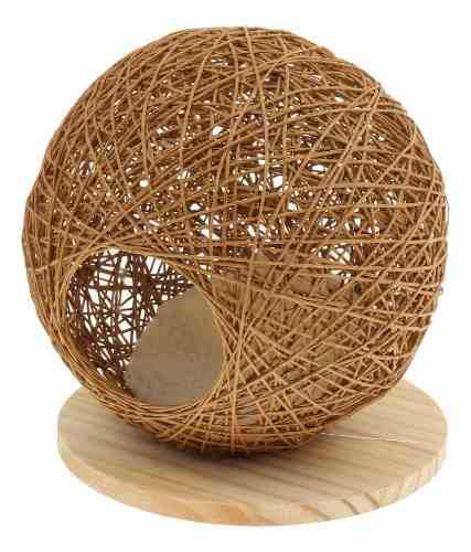 Casa nido hecho a mano mascota hámster accesorios colocar
