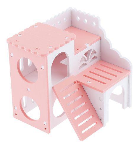 Casa para chinchilla hamster cama para mascotas pequeñas