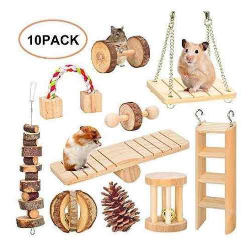 Juguetes para masticar hamster, ratas de jerbos conejillo de