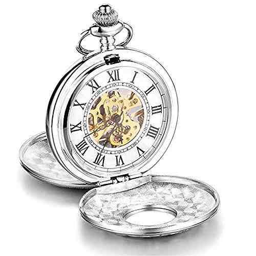 Loching Lujo Retro Reloj De Bolsillo Mecánico Hueco
