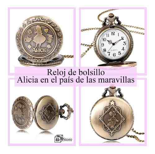Reloj De Bolsillo Alicia En El País De Las Maravillas