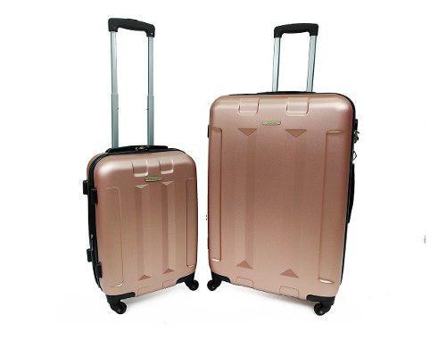 Set maleta viaje x2 (1 grande y 1 pequeña) abs