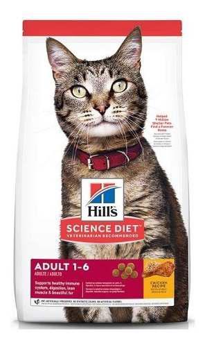 Alimento hills adultos optimal care 16lb gatos