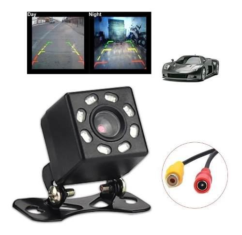 Auto mini camara de vision trasera ayuda para aparcar 170 ° grado PAL con LED reflejado