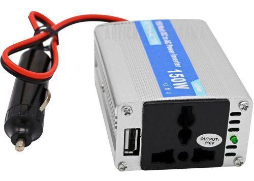 Conversor inversor de corriente 150w dc 12v-110v salida usb