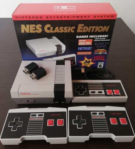 Nintendo nes classic +2 controles original como nuevo!! disp