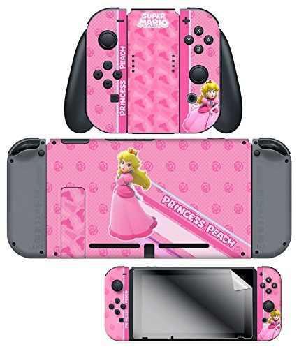 Nintendo switch skin y pantalla protector set super mario pr