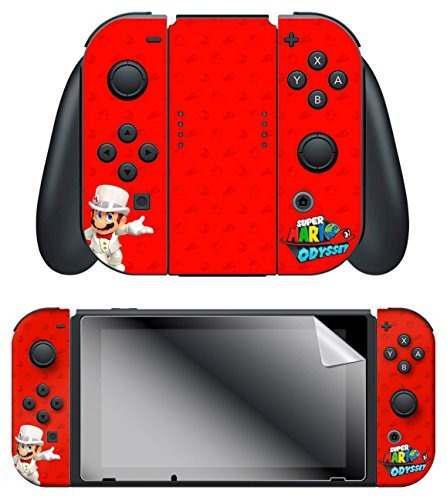 Nintendo switch skin y protector de pantalla set super mario