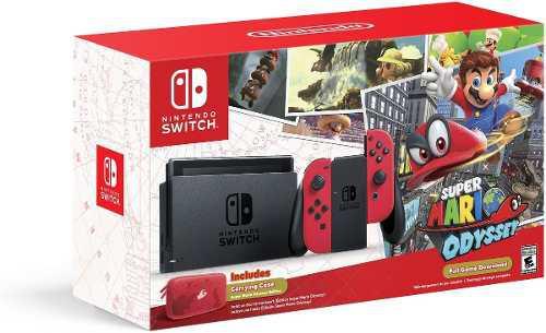 Nintendo switch super mario odyssey consola portátil screen