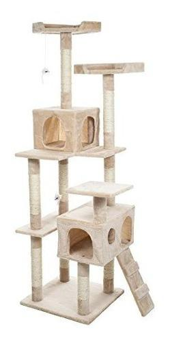 Petmaker skyscraper sleep y play cat tree 55 beige