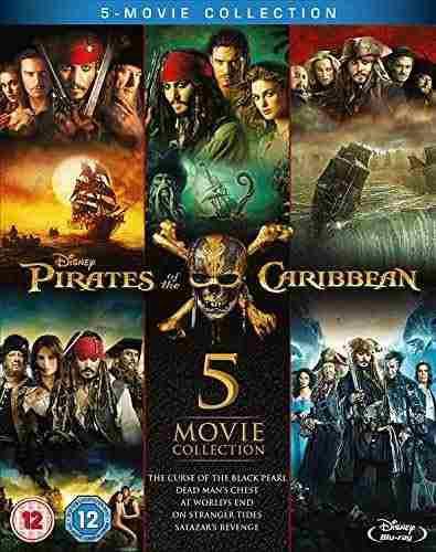 Piratas del caribe: colección completa de 5 películas