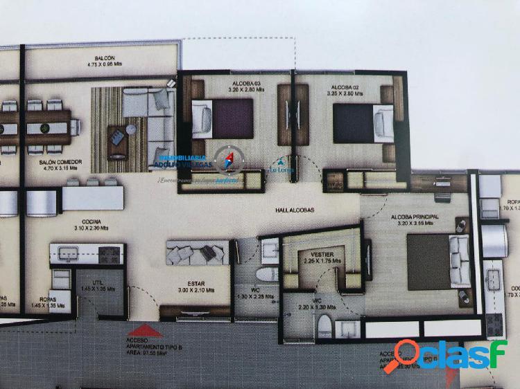 Apartamento para venta en envigado 2716