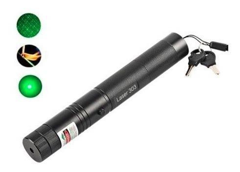 Laser verde con largo alcance bateria 18650 recargable