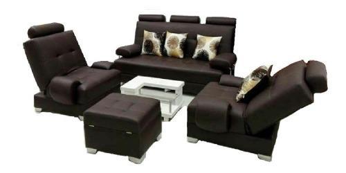 Sala reclino sofa de 3 puestos y 2 sillas