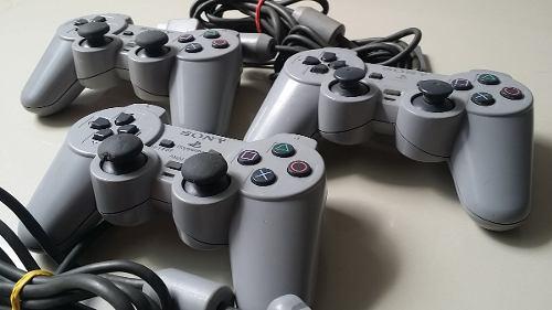 Control playstation 1, ps1 original dualshock gris