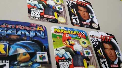 Cover, label, sticker y etiquetas supernintendo, n64, play 1