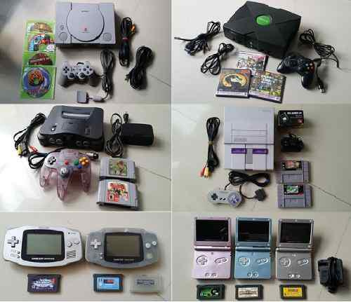 Supernintendo, gamecube, n64, ps1, ps2, gamecube, wii, atari