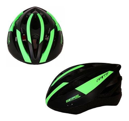 Casco bicicleta centipede ruta montaña gw mtb verde ajustab