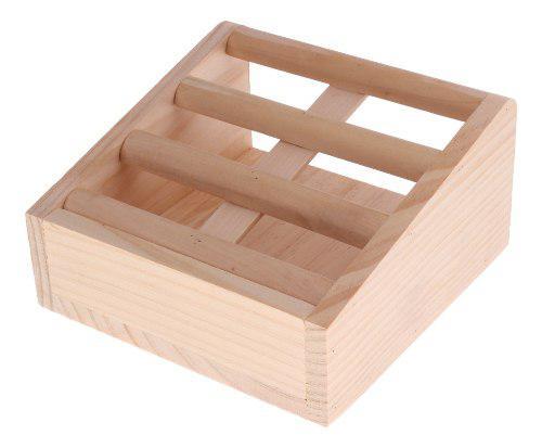Comedero de madera para heno y alimentos dispensador para