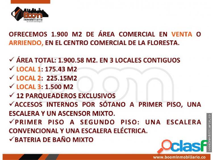 **VENTA ARRIENDO LOCALES 1.900 M2 FLORESTA 1