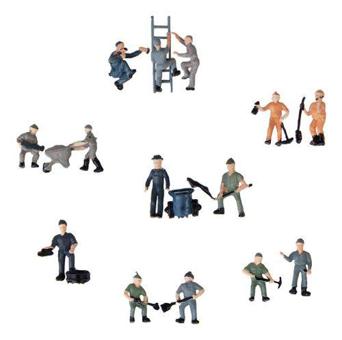 25pcs figuras de trabajador gente pintada modelo