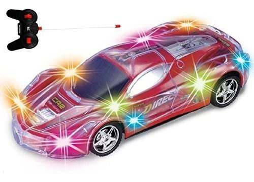 Haktoys light up racing red 124 scale rc sport