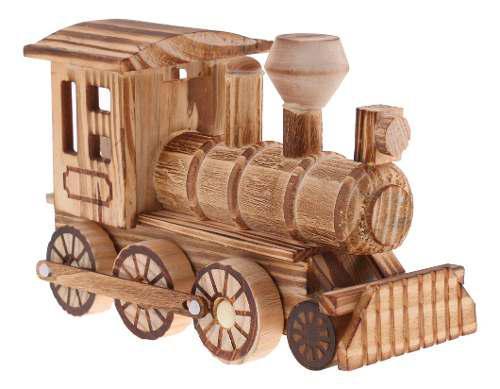 Juguete de madera de tren de simulación de niños