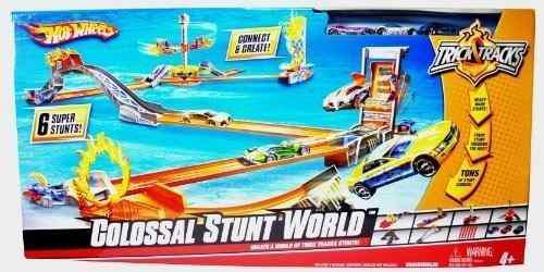 Trick tracks hot wheels pista colosal world stunt juego de 6