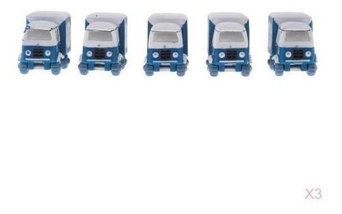 15pcs miniatura de camiones estatuas de autos casa de