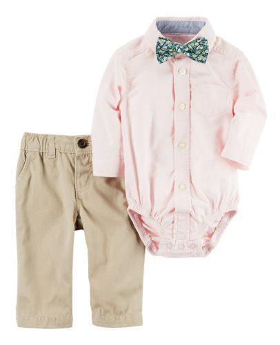 Conjuntos ropa carter's bebé niño con corbatin mameluco.
