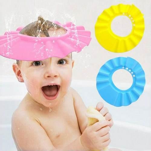 Gorro baño bebe - visera de ducha sol o corte cabello