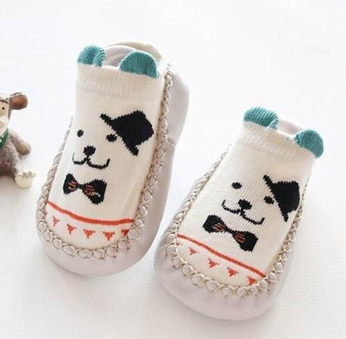 Medias antideslizantes para bebé estilo zapato