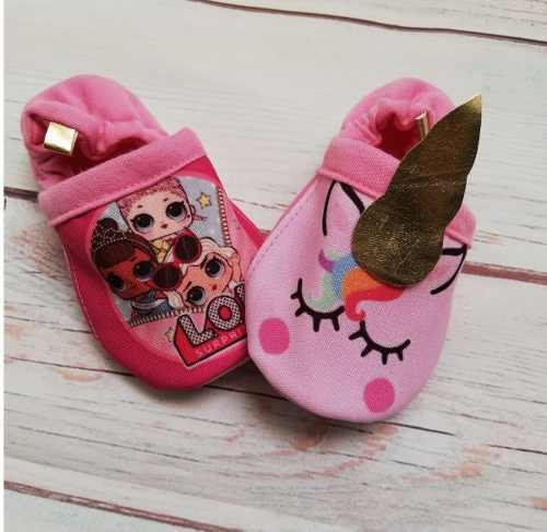 Zapatos bebe babuchas niña unicornio lol