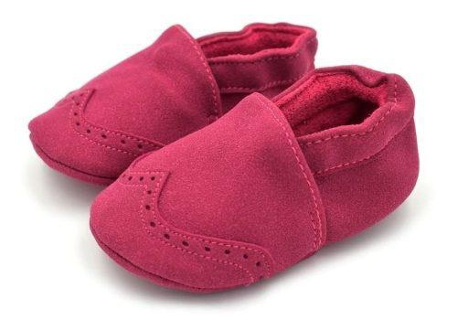 Zapatos Bebe Niño Niña Babucha Gamusa
