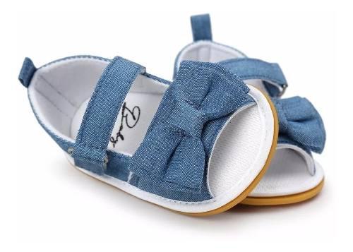 Zapatos bebe sandalia niña mono jean antideslizante