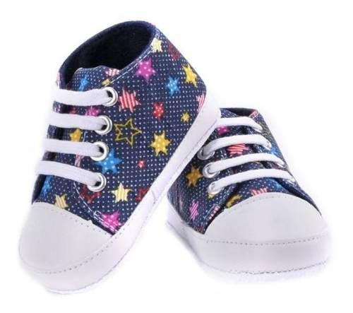 Zapatos Niño Niña Bebe Teni Suela Antideslizante Estrellas