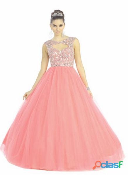 Alquiler de vestido mujer quince años color confite ref   1913 $ 300 (5)