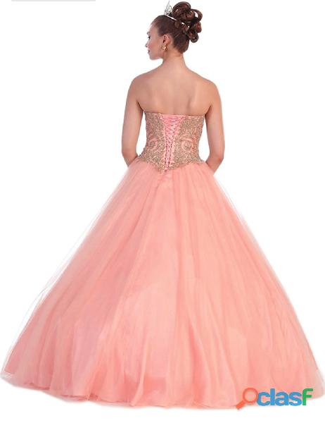 Alquiler de vestidos mujer de 15 años estilo princesa color coral ii/*iio