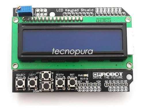 Módulo Pantalla Lcd Keypad Display Shield 16×2 Para